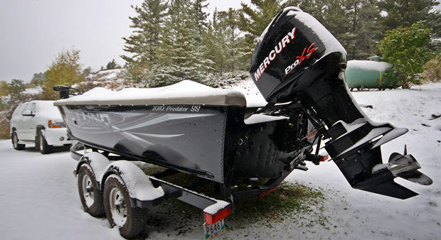 bed - a winterized boat