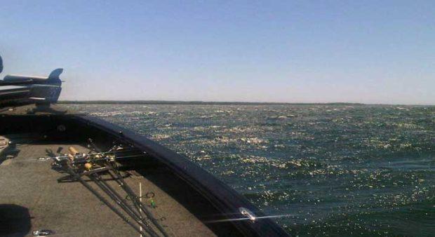 bait lockdown - a boat on Lake SImcoe
