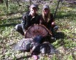 Heather Dorssers with her first turkey on opening day of 2012 near Blenheim. Her fiancée, Jeremy Vlasschaert, was an excellent guide!