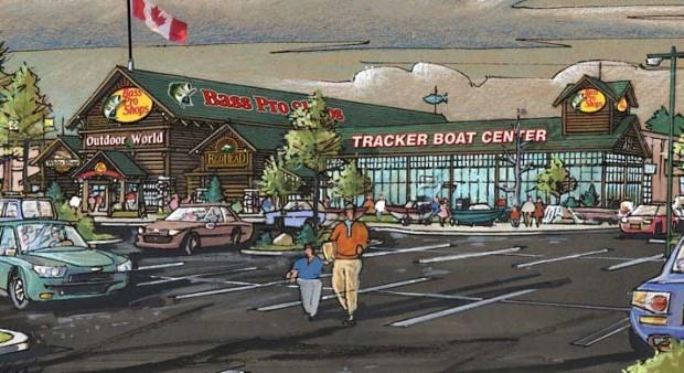 ottawa suburb - illustration of a new Bass Pro store