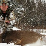 Adam Lariviere shot this mature buck on Dec. 9, 2013 in a snowy blizzard.