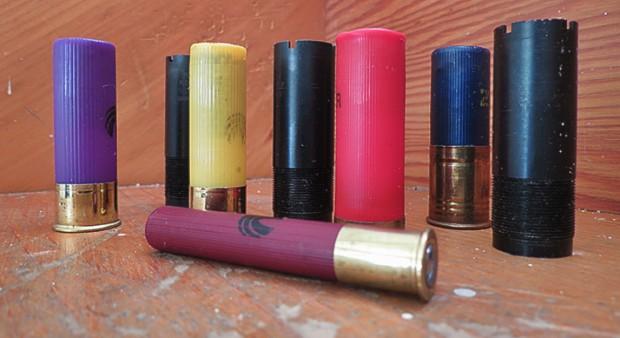 gauge - shot shells on a counter