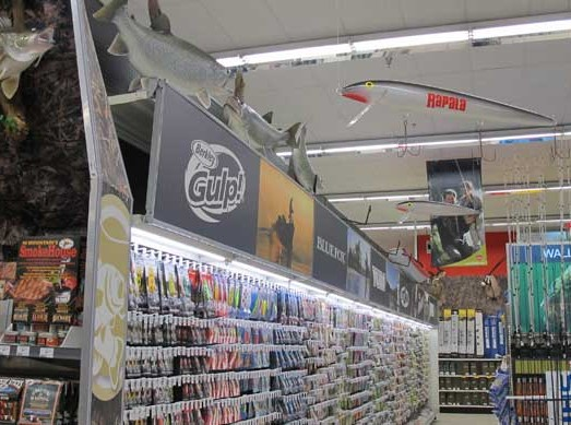 Canadian Tire fishing display