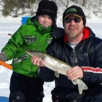 Milan Brestovacki took his son Lucas, 6, on his first ice fishing outing to Shade's Mills Conservation Area in Cambridge this winter. Lucas pulled out this nice northern pike by himself before his dad could get there to help him.
