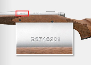 Graphic A - where to find the serial number.