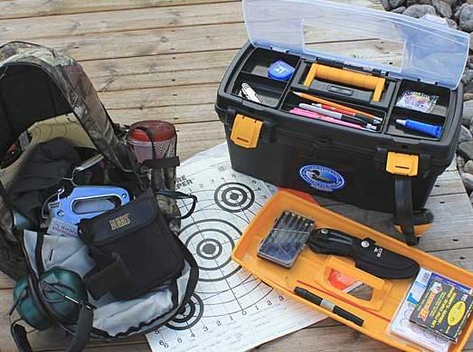 range bag and toolbox