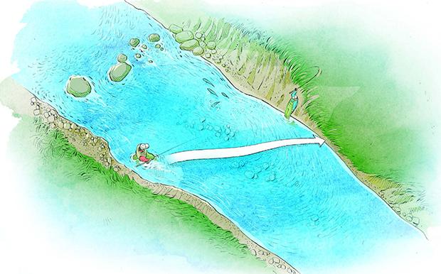 Safe wading - Using Diagonal