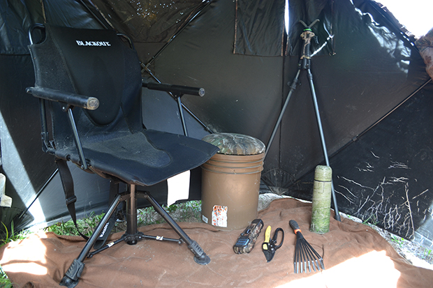 Ground blind tips - seat