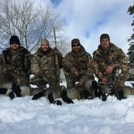 Tom Delaney of Mount Brydges, Ontario along with his brothers and cousins spent a great day goose hunting on the first snowfall of the year.