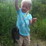 Paige Sulton, 4, caught the biggest bluegill of the day fishing with her Dad at the Strathroy Mill Ponds.