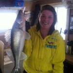 Amanda Allard, from North Bay, had a great day of fishing on Lake Nipissing on March 9 with her dad, Alex and his girlfriend Michelle Chaput.