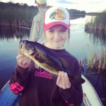 Ashley Kelller caught this fish on the Crowe River.