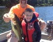 Carter Liscombe, 6, landed this 3.5 pound largemouth while fishing with his uncle on Shadow Lake.
