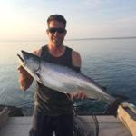 Chris Bays of Grimsby was out downrigging on Lake Ontario when he landed this chinook salmon.