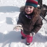 Ellyot, 2, caught lots of perch while fishing with her Dad on Chemong Lake on March 9.