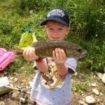 Grady Robinson caught this smallmouth bass at Lucan Pond.