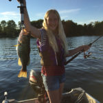 Miranda Pallister, 10, landed this monster hog on Buckhorn Lake.