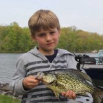 Tomas, 7, from Mississauga and his father John went on the search for big spring Crappie on Buckhorn Lake last spring. They found them!