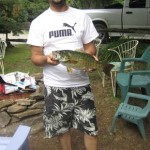 Joe got this 3 pound, 9 ounce bass while at his father in-law's cottage in the Kawartha Lakes.
