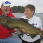 Jim Williams of Ottawa and his girlfriend were on her first fishing charter on the St. Lawrence River when she caught the only fish of the day.