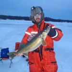 Jordan Bloom of Oshawa caught this 10-pound walleye in the Bay of Quinte during the morning bite while out with his fishing partner, Jeromey.