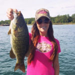 Kayla Culp of Ridgeway with this gorgeous smallmouth bass out of Lake Erie.