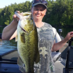 Kelly Thompson reeled in this largemouth bass on a Bancroft area lake.
