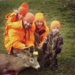 During a solo still hunt in the Killarney area, Kevin Matthews was able to sneak up on this 8-point buck rubbing a tree. The shot was 60 yards and he didn't go more than 50 yards before dropping. His wife Kristin, and kids Drake and Maddox, couldn't have been happier to see him arrive home with this beautiful buck.