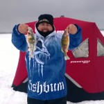 It was a great day ice fishing for nice jumbo perch on Manitoulin Island.