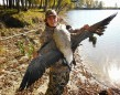 """Send in by Shawn Medland. """"Happy Thanksgiving. My son Brodie Medland holding up a giant from our thanksgiving goose hunt while he was home from college."""""""
