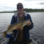 Mike Morin of Sturgeon Falls caught this walleye in Lake Nipissing last year. It was about 7-pounds.