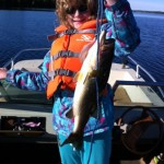 Cassie Hill, 12, lands a big one with this 4lb largemouth caught in Beaver Lake.