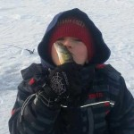 8-year-old Kolton's first time ice fishing for perch on beautiful Lake Simcoe.