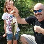 7-year-old Karissa Manlow and her Dad, Darrell, were fishing for perch off a dock on Martins River in Prince Edwards County last summer when they reeled this fish in. By the expression on Karissa's face, this will be a fishing trip she won't forget.