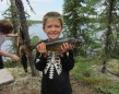 River Narbonne, 7, caught this fish with his Grandma on a lake near Hillsport.
