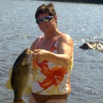 Steph Smith caught this nice smallmouth under a dock on Lake Timiskaming.