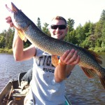 """Steve Paxton lands a personal best with this 36"""" pike caught with no leader."""