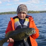 Instead of a party for his 8th birthday, Ty Bigourdan wanted to go fishing. He caught a caught a lot of fish in his secret lake near McKellar. Best birthday ever.