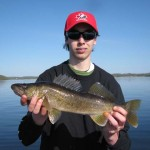 Evan, 15, caught this 20-inch walleye on Rice Lake with his dad on Victoria day weekend.
