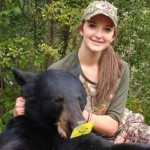 Cassidy Heise, 15, used her Excalibur Vixen crossbow to secure her first black bear.