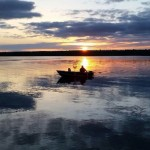 John Bigger of St. Catharines submitted this photo of him fishing on Chemong Lake last September.