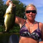 Liz Daniels caught this nice bass this summer.