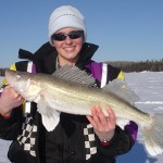 "Michel Roy submitted this photo of ""Lynn"" holding a five-pounder that she caught in Abitibi Lake while fishing with her dad Mike."