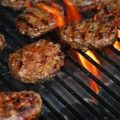moose burger - burgers on a grill