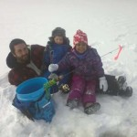Russell Miller from London got the opportunity to help some friends and their families learn about ice fishing in Canada. Ava, 4 and Sebastien, 3 had a great time fishing for lake trout in the Algonquin highlands area.