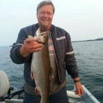 Kari Viljanmaa landed this speckled trout off Manitoulin Island