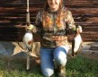 Caroline Gurnsey got her first wood ducks with her brother's Winchester SXP on a back wood beaver pond near Arden.