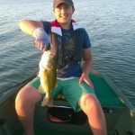 Hudson Fricke used nearly everything in the tacklebox before he landed this Largemouth