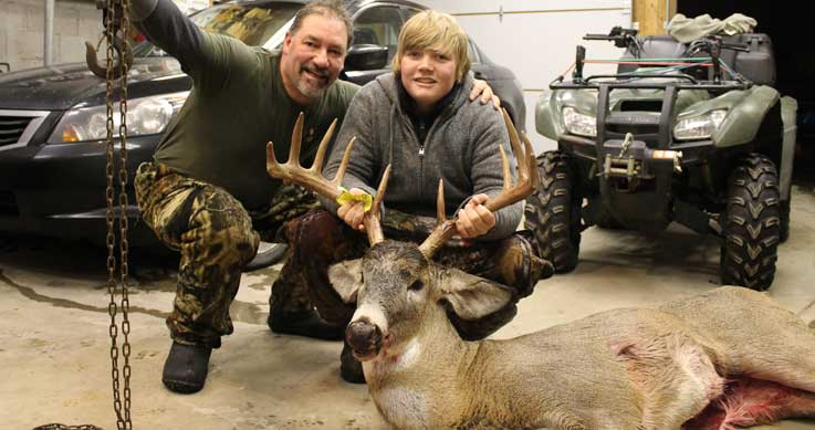 Jack harvested this 10-point deer with a bow in the Holland Landing area on Dec.1, the day after his 14th birthday.