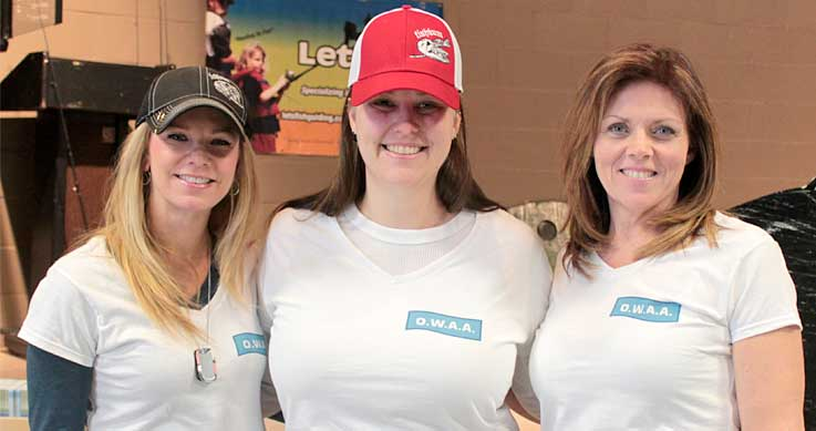 Carrie Cartwright, Jennifer Fullard and Yvonne Brown, 3 of the executive members of the Ontario Women Anglers Association.